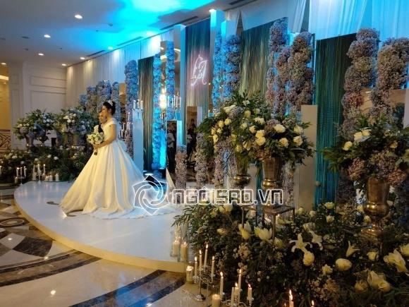Cập nhật đám cưới Á hậu Tú Anh: Cô dâu xuất hiện xinh đẹp giữa không gian tiệc hoành tráng - Ảnh 2