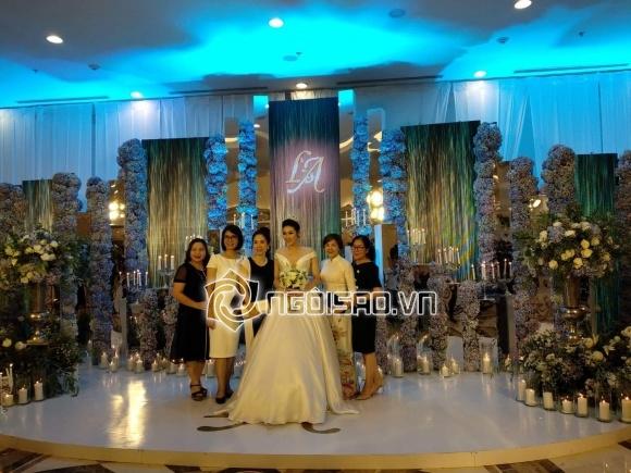 Cập nhật đám cưới Á hậu Tú Anh: Cô dâu xuất hiện xinh đẹp giữa không gian tiệc hoành tráng - Ảnh 3