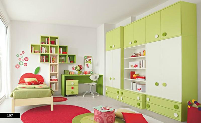 Thiết kế phòng của trẻ kết hợp màu trắng với màu sắc sặc sỡ - Ảnh 1