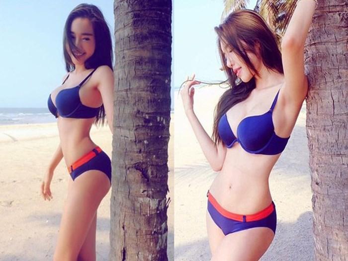 Elly Trần tiếp tục mặc bikini khoe ngực 'khủng' gây 'nhức mắt' ở bể bơi - Ảnh 6