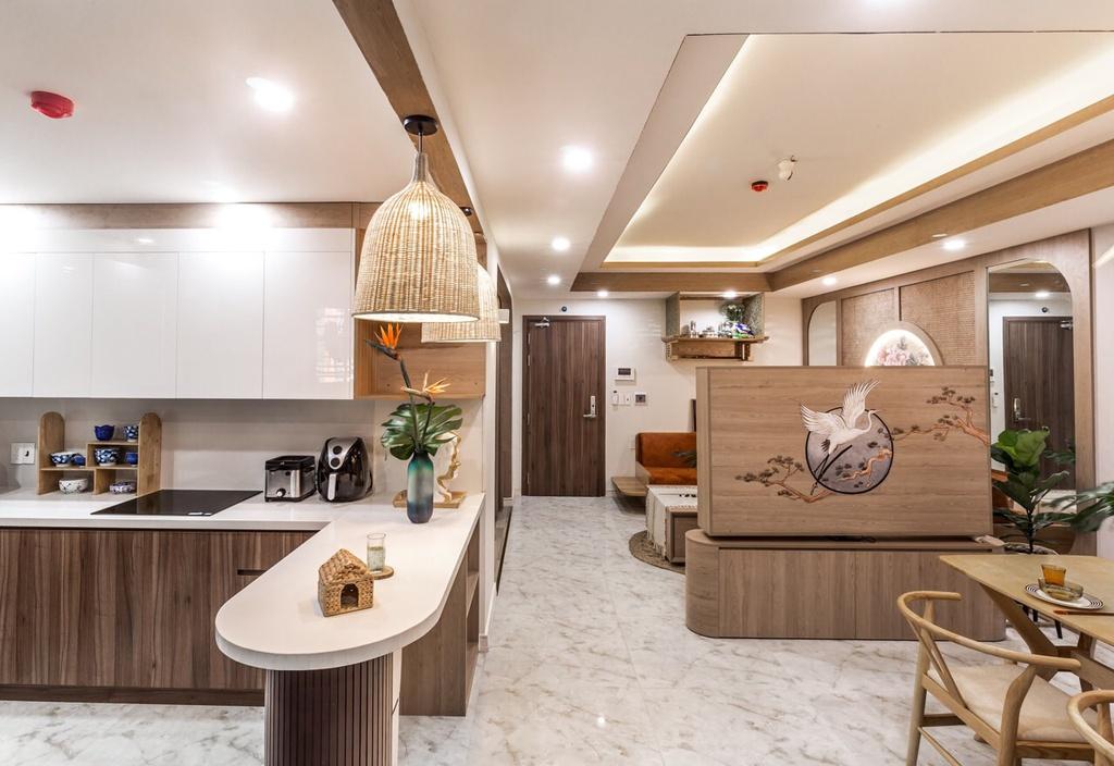 Căn hộ 75 m2 phong cách Á Đông với chất liệu gỗ chủ đạo - Ảnh 2