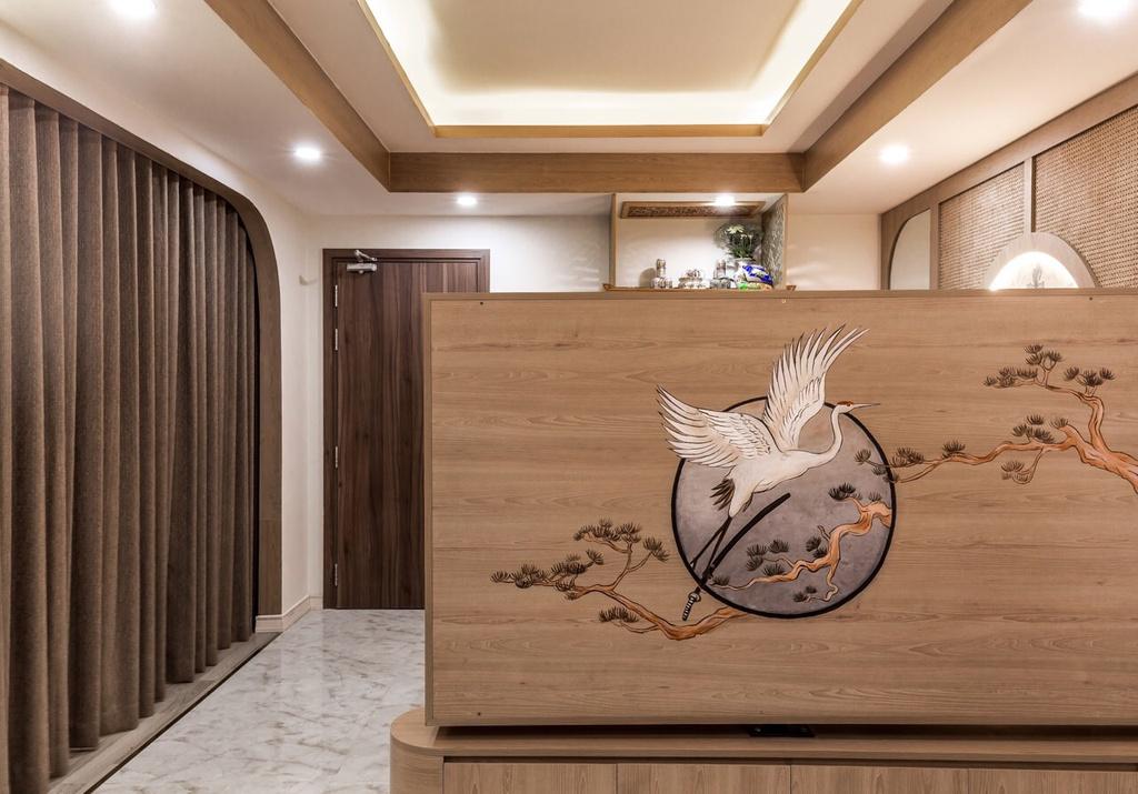 Căn hộ 75 m2 phong cách Á Đông với chất liệu gỗ chủ đạo - Ảnh 1