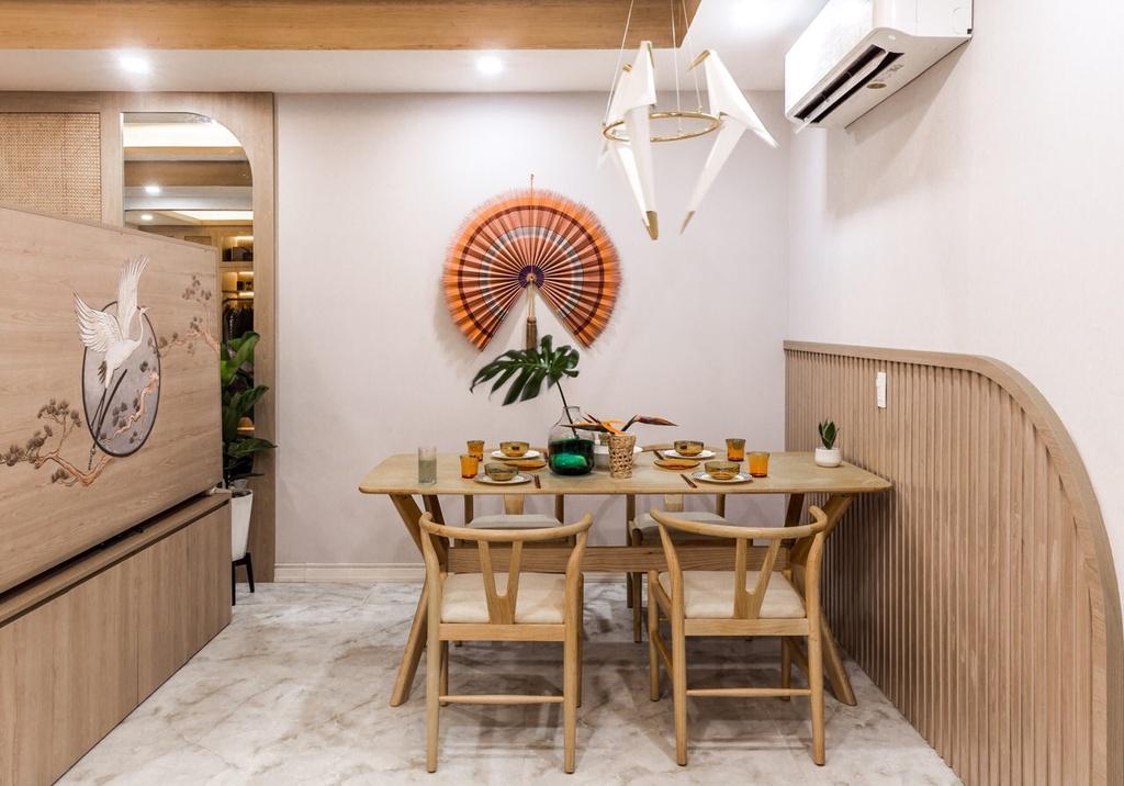 Căn hộ 75 m2 phong cách Á Đông với chất liệu gỗ chủ đạo - Ảnh 5