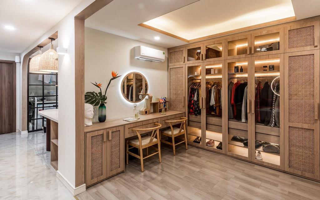 Căn hộ 75 m2 phong cách Á Đông với chất liệu gỗ chủ đạo - Ảnh 7