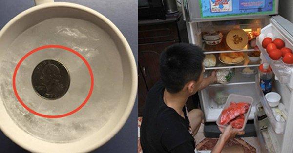 Cho cốc nước và đồng xu vào tủ lạnh qua đêm, sáng ra cả nhà 'tròn mắt' xem điều lạ - Ảnh 1