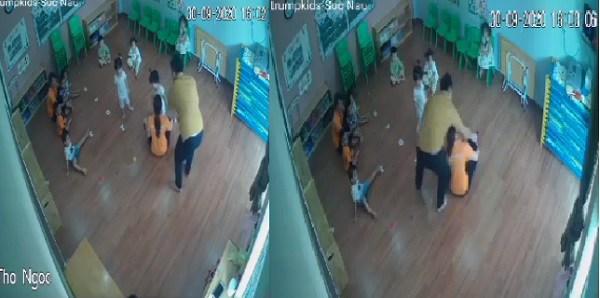 Bé gái mầm non bị bố của bạn túm tóc, hành hung trước mặt cô giáo vì tranh đồ chơi - Ảnh 1