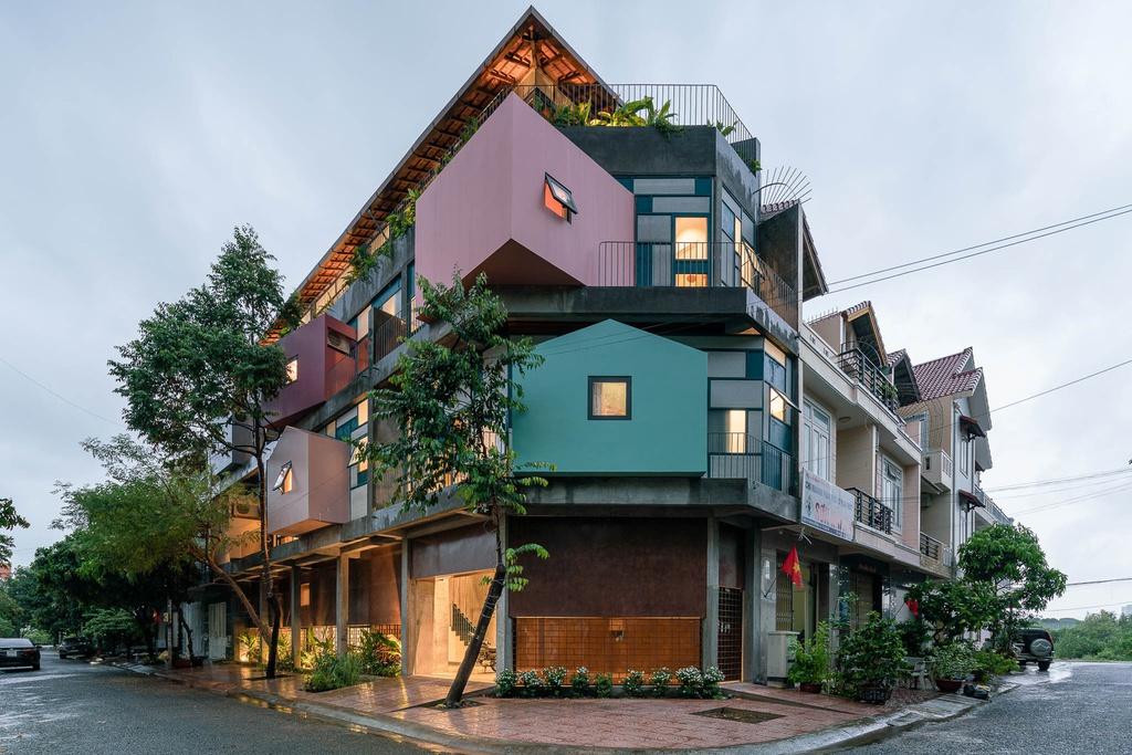 Ngôi nhà cho thuê với thiết kế nhiều khối ở Vũng Tàu - Ảnh 1