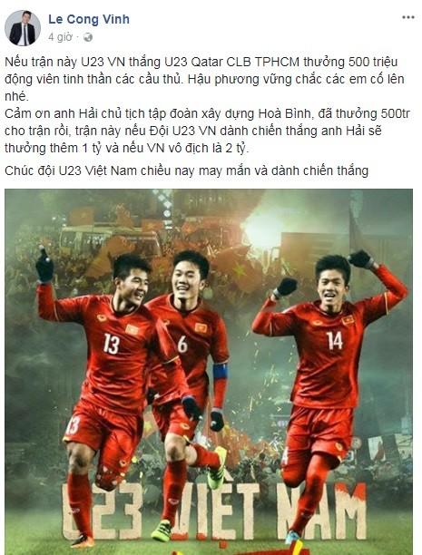 Các sao Việt hứa thưởng cho U23, đã có những ai thực hiện lời hứa? - Ảnh 7