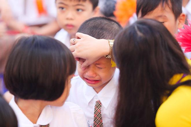 Chùm ảnh hài hước: Các em nhỏ khóc mếu, ngáp ngủ trong ngày khai giảng - Ảnh 11