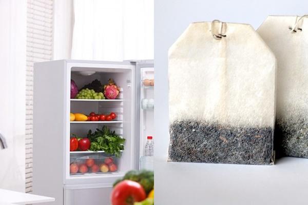 Dùng túi trà để khử mùi hôi trong tủ lạnh hiệu quả nhất