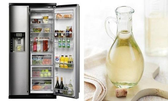 Giấm ăn giúp khử mùi hôi trong tủ lạnh nhanh chóng
