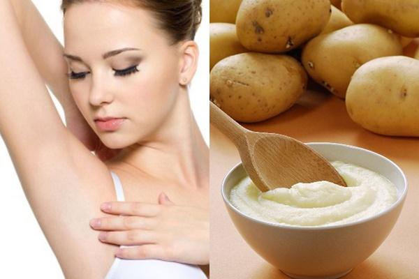 Trị thâm nách hiệu quả nhanh chóng với khoai tây
