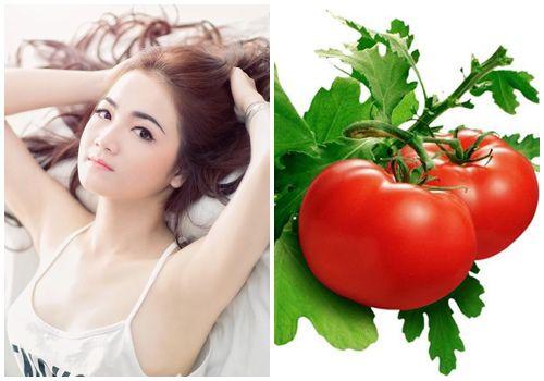 Dùng cà chua để điều trị thâm nách hiệu quả