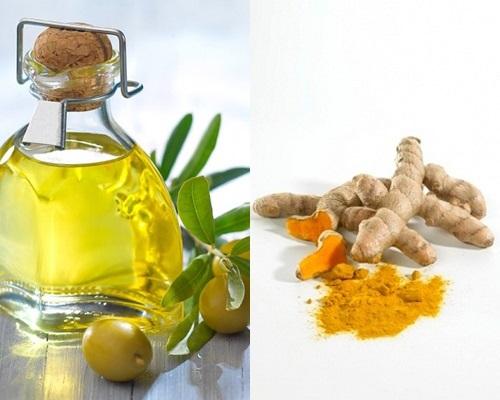 Làm đẹp tự nhiên với dầu oliu và bột nghệ