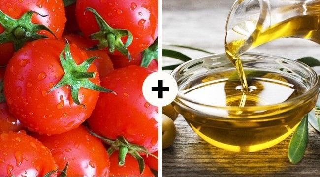 Mẹo làm đẹp với dầu oliu và nghệ, thêm cà chua cho chống lão hóa tuyệt vời. Ảnh: Internet