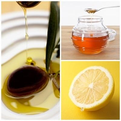 Da trắng sáng, dưỡng ẩm đầy đủ với dầu oliu, mật ong, chanh dễ làm