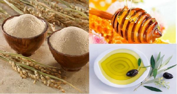 Kết quả hình ảnh cho cám gạo và mật ong