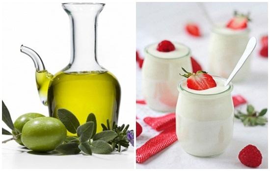 Làm đẹp với dầu oliu và sữa chua siêu tốt, da trắng mịn màng, tươi tắn
