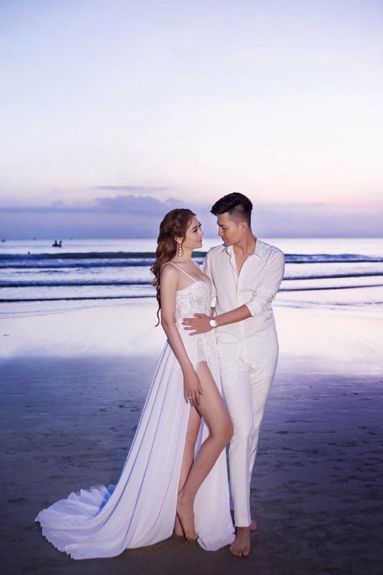 Ngắm trọn vẹn bộ ảnh cưới đẹp như mơ của Lâm Khánh Chi và chồng trên biển  - Ảnh 6