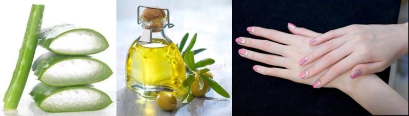 Tuyệt chiêu làm mềm da tay với dầu oliu và nha đam dễ thực hiện
