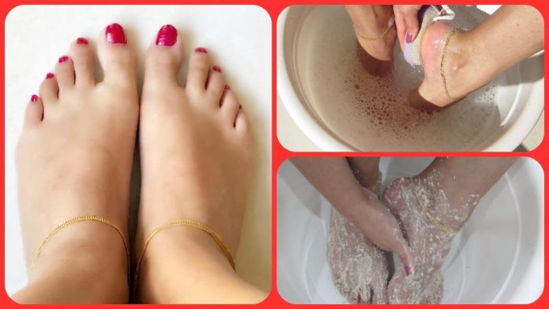 Tranh thủ dùng đá tắm làm mềm gót chân bị chai mỗi lần tắm tiết kiệm thời gian