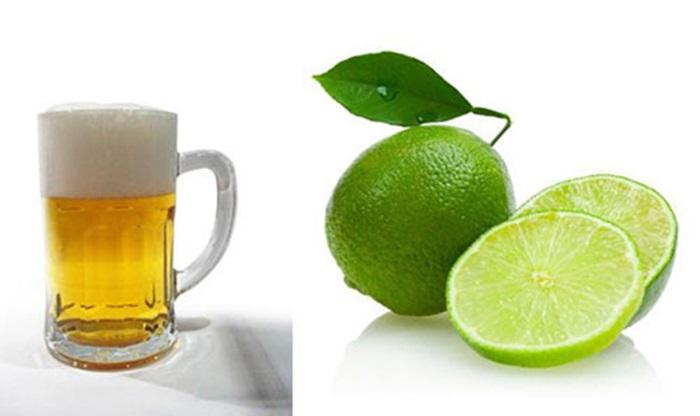Cách làm đẹp từ bia và nước cốt chanh tăng tính kháng khuẩn cho da.