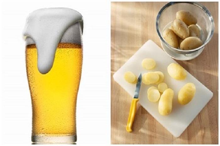 Cách làm đẹp từ bia và khoai tây giúp da bật tông nhanh chóng đẩy lùi quá trình lão hóa.