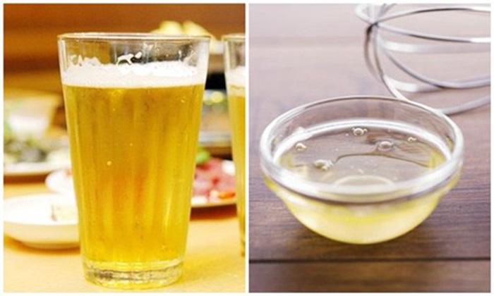 Cách làm đẹp từ bia và lòng trắng trứng gà giúp da luôn căng mịn và trắng hồng rạng rỡ