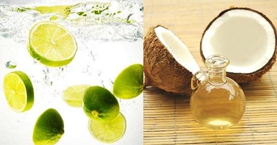 Dầu dừa và chanh kết hợp tạo công thức dưỡng trắng da hiệu quả