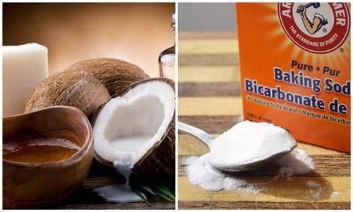 Làm trắng da bằng dầu dừa và Baking Soda đơn giản tại nhà