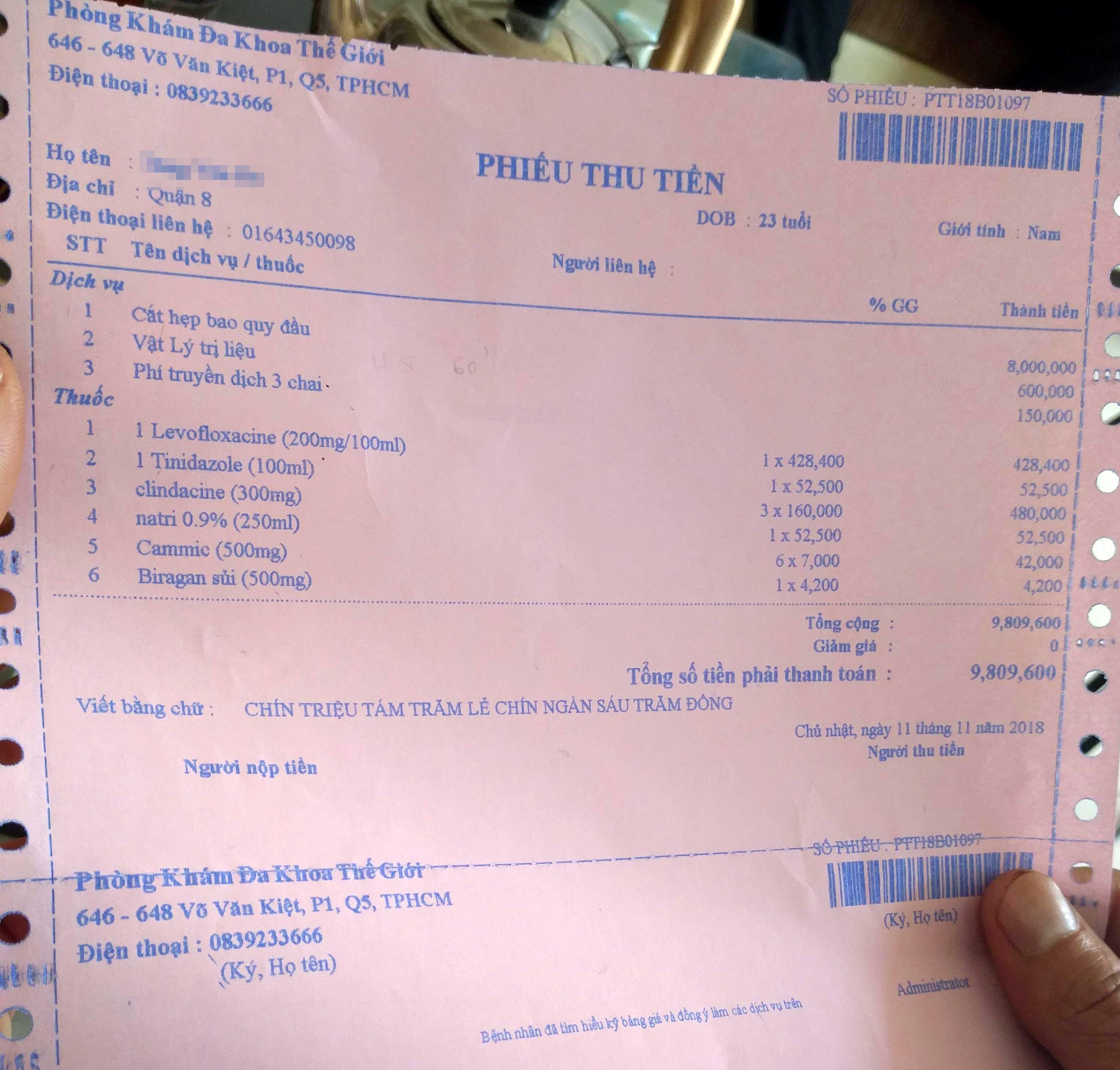 Phòng khám bác sĩ Trung quốc giữ CMND của bệnh nhân vì không đủ tiền thanh toán - Ảnh 3