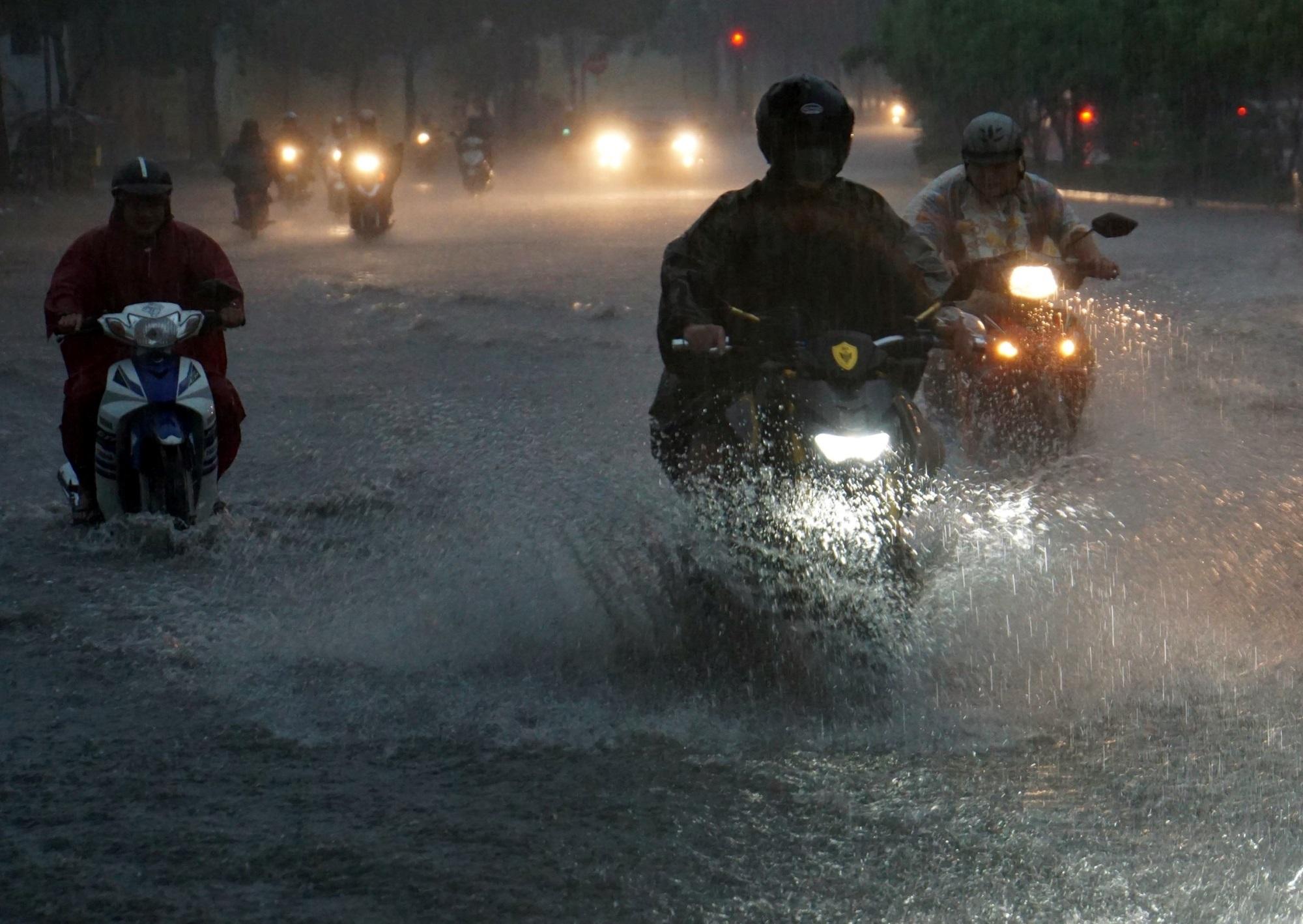Sài Gòn ngập kinh hoàng, cây ngã đè người đi xe máy tử vong trong tâm bão - Ảnh 12