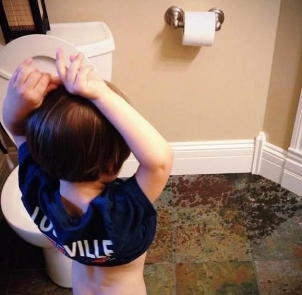 Bộ ảnh khiến bạn thấy may mắn vì con mình chưa nghịch ngợm đạt đến 'trình độ' như thế này - Ảnh 1