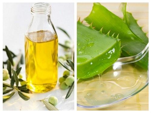 Mặt nạ dưỡng trắng da từ nha đam và dầu oliu