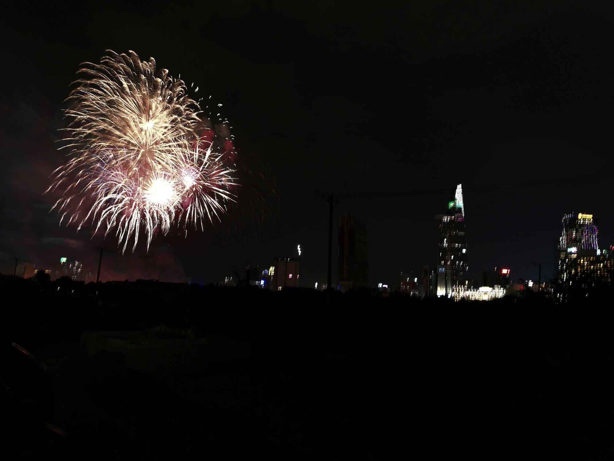 Hàng triệu người dân Sài Gòn xuống phố đón màn pháo hoa rực rỡ mừng năm mới 2019 - Ảnh 3
