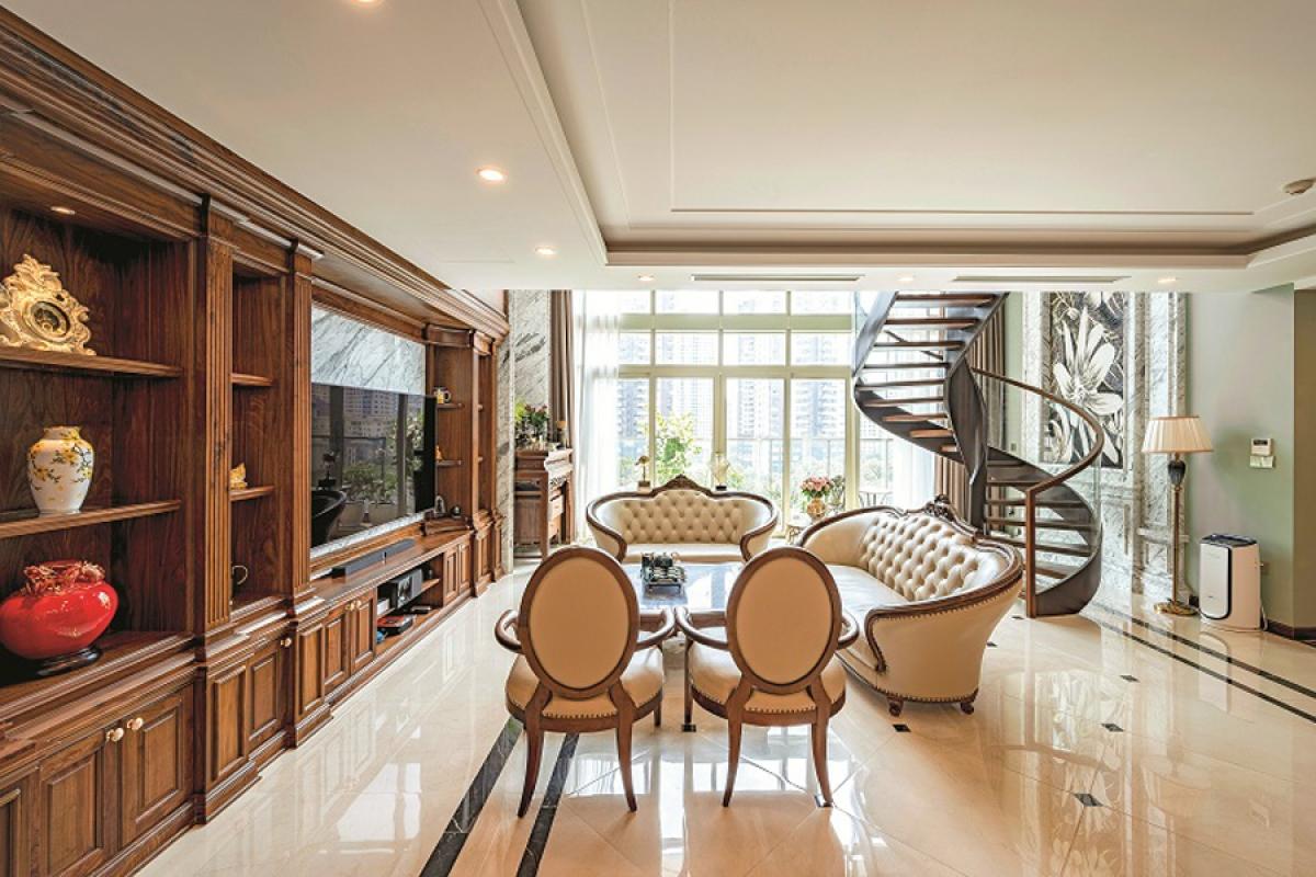 Căn hộ duplex đẹp sang trọng với phong cách tân cổ điển - Ảnh 2