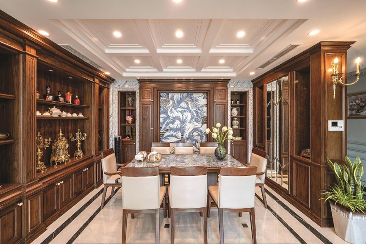 Căn hộ duplex đẹp sang trọng với phong cách tân cổ điển - Ảnh 3