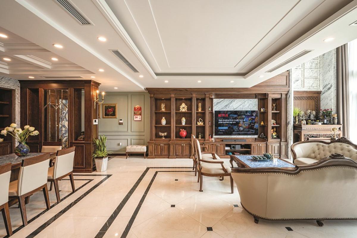 Căn hộ duplex đẹp sang trọng với phong cách tân cổ điển - Ảnh 1
