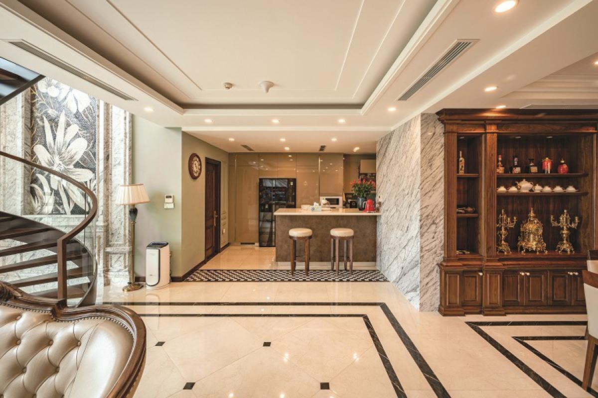 Căn hộ duplex đẹp sang trọng với phong cách tân cổ điển - Ảnh 4