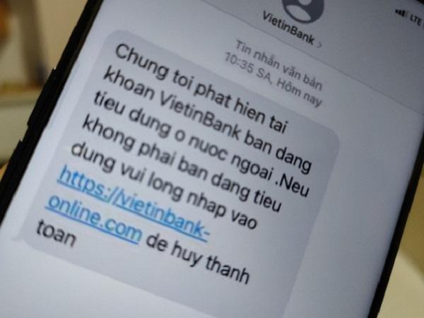 Lại rộ tin nhắn mạo danh ngân hàng lừa người dùng - Ảnh 1
