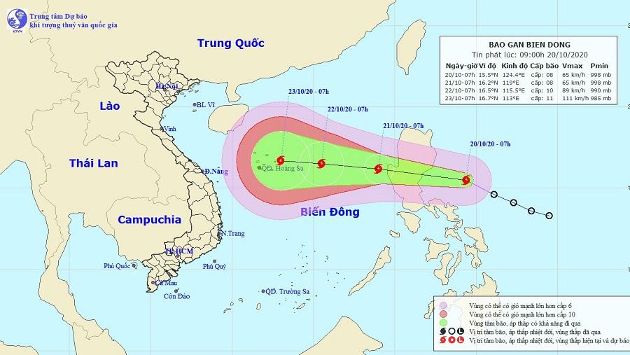 Áp thấp nhiệt đới đã mạnh thành bão, vào Biển Đông sáng mai - Ảnh 1