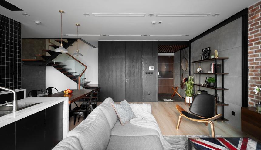 Căn hộ duplex với phong cách 'công xưởng' tại Hà Nội - Ảnh 4