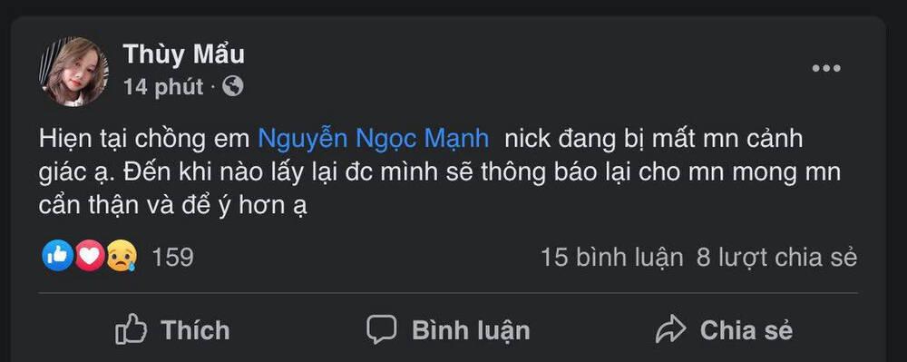 Người hùng cứu bé gái rơi từ tầng 12 chung cư Nguyễn Ngọc Mạnh bị hack Facebook - Ảnh 1