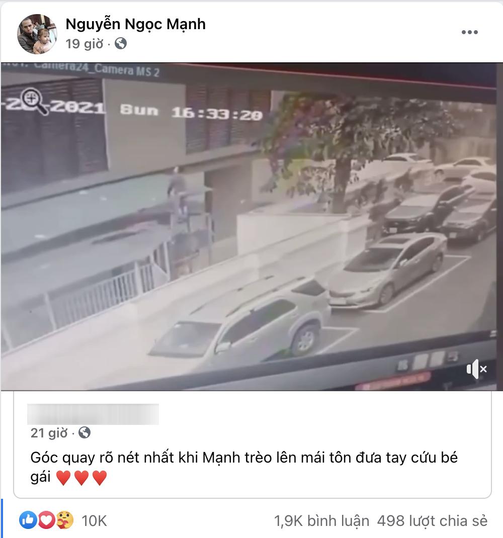 Người hùng cứu bé gái rơi từ tầng 12 chung cư Nguyễn Ngọc Mạnh bị hack Facebook - Ảnh 2