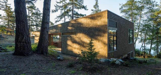 Nhà hình học nằm ở phần lõm của sườn đồi với vườn cây trên mái - Ảnh 7
