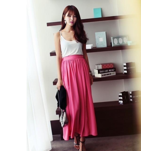 'Bí kíp' 1001 cách phối đồ với chân váy dài khiến nàng vừa xinh vừa sành điệu - Ảnh 7