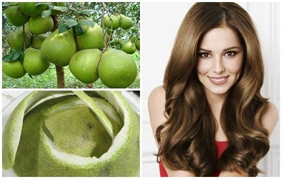 Vỏ bưởi có nhiều tác dụng, giúp mọc tóc chắc khỏe, nhanh, bóng mượt
