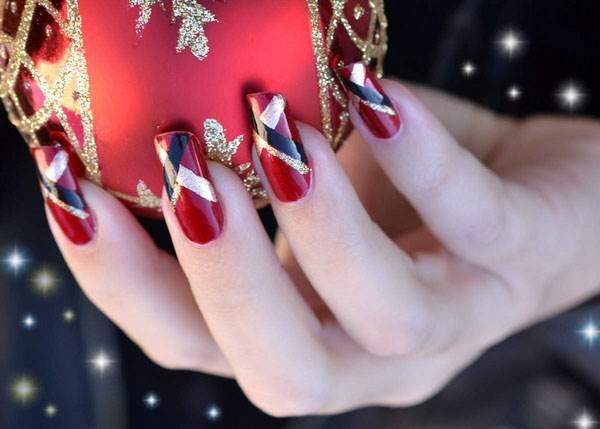 Các mẫu nail giáng sinh cực quyến rũ - Ảnh 1