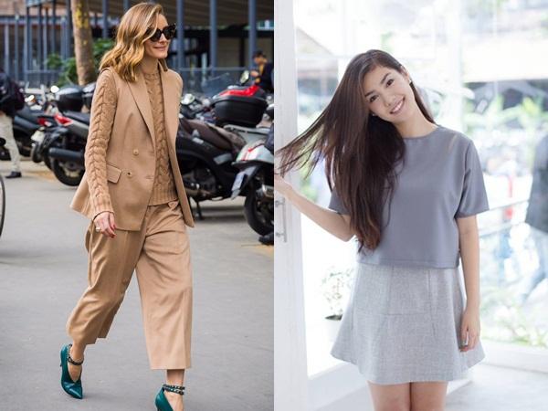 Không chỉ ấn tượng bởi sự sang trọng mà quần áo đơn sắc còn tạo sự liền mạch cho bộ quần áo