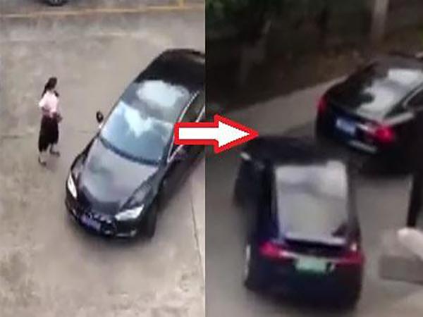 Nữ tài xế cố tình lái xe đâm vào ô tô khác để trả thù vì suýt bị tông trúng - Ảnh 1